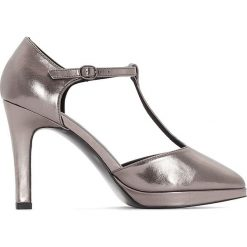 Buty ślubne damskie: Opalizujące czółenka na platformie