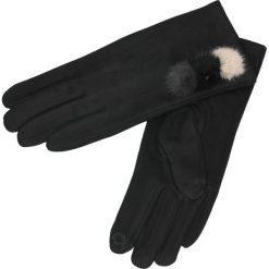 Rękawiczki - 164-ST519 NER. Czarne rękawiczki męskie Unisono, z bawełny. Za 34,00 zł.