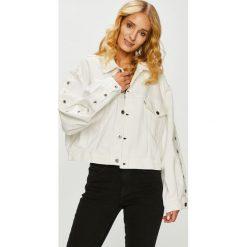Levi's - Kurtka. Brązowe kurtki damskie jeansowe marki Levi's®, z obniżonym stanem. Za 899,90 zł.