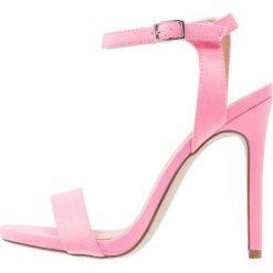 Sandały damskie: New Look SOCCER Sandały na obcasie bright pink
