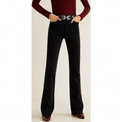 Mango - Jeansy Flare. Czarne jeansy damskie Mango. Za 139,90 zł.