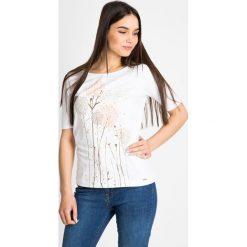 Bluzki damskie: Biała bluzka w dmuchawce  QUIOSQUE