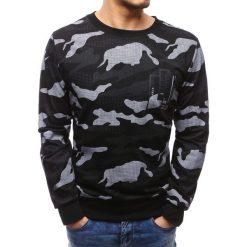 Bluzy męskie: Bluza męska z nadrukiem camo czarna (bx3500)