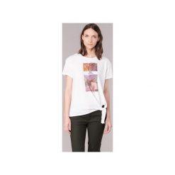T-shirty z krótkim rękawem Only  AMBER. Szare t-shirty damskie marki ONLY, s, z bawełny, casualowe, z okrągłym kołnierzem. Za 55,20 zł.