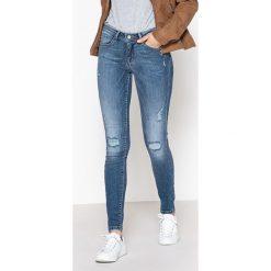 Dżinsy skinny. Szare jeansy damskie marki La Redoute Collections, m, z bawełny, z kapturem. Za 176,36 zł.