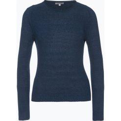 Apriori - Sweter damski z dodatkiem lnu, niebieski. Niebieskie swetry klasyczne damskie marki Apriori, l. Za 229,95 zł.