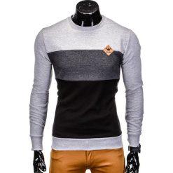 Bluzy męskie: BLUZA MĘSKA BEZ KAPTURA B701 – SZARA