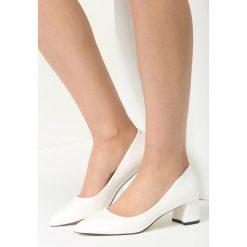 Buty ślubne damskie: Białe Czółenka Bossa Nova