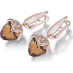 Kolczyki damskie: Zjawiskowe Złote Kolczyki – złoto różowe 750, Brylant 0,21ct…