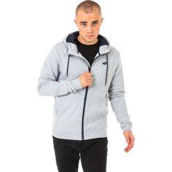Bluzy męskie: 4f Bluza męska z kapturem H4L18-BLM003 jasnoszara r. L