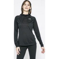 Under Armour - Bluza Tech LS Hood 2.0. Czarne bluzy sportowe damskie marki Under Armour, l, z dzianiny, z kapturem. W wyprzedaży za 139,90 zł.