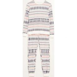 Piżama ze spodniami - Kremowy. Niebieskie piżamy damskie marki Reserved. Za 109,99 zł.