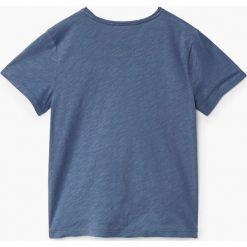 Mango Kids - T-shirt dziecięcy Heroes 104-164 cm. Różowe t-shirty chłopięce z nadrukiem marki Mango Kids, z bawełny, z okrągłym kołnierzem. W wyprzedaży za 29,90 zł.