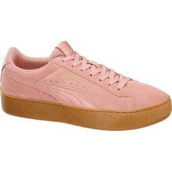 Buty sportowe damskie: buty damskie Puma Vikky Platform Puma różowe