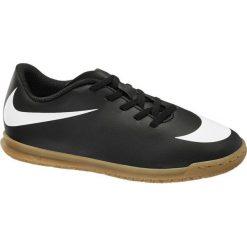 Buty dziecięce do piłki nożnej Nike Bravata Ic NIKE czarno-białe. Białe buciki niemowlęce Nike, z materiału. Za 159,90 zł.