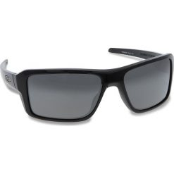 Okulary przeciwsłoneczne OAKLEY - Double Edge OO9380-1566 Polished Black/Prizm Black Iridium. Czarne okulary przeciwsłoneczne męskie aviatory Oakley, z tworzywa sztucznego. W wyprzedaży za 509,00 zł.