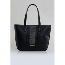 Elegancka torba w prążki. Szare torebki klasyczne damskie Monnari, w paski, ze skóry, duże. Za 99,60 zł.