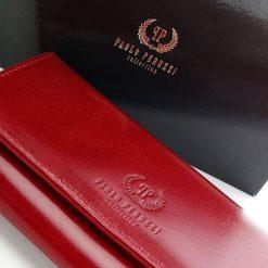 Ekskluzywny portfel damski Paolo Peruzzi. Czerwone portfele damskie marki Paolo Peruzzi, ze skóry. Za 159,00 zł.