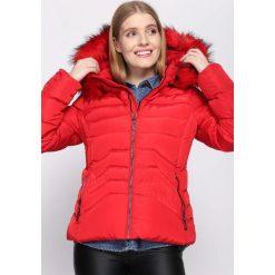 Czerwona Kurtka Persuaded. Brązowe kurtki damskie pikowane marki QUECHUA, na zimę, m, z materiału. Za 129,99 zł.