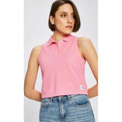 Calvin Klein Jeans - Top. Szare topy damskie Calvin Klein Jeans, l, z bawełny. W wyprzedaży za 99,90 zł.