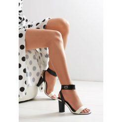 Sandały damskie: Czarno-Beżowe Sandały Broken Glass