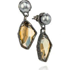 Kolczyki damskie: Wspaniałe Srebrne Kolczyki – srebro 925, Perła…