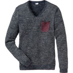 Sweter z dekoltem w serek Regular Fit bonprix niebieski melanż. Niebieskie swetry klasyczne męskie marki bonprix, m, melanż, z materiału, z dekoltem w serek. Za 69,99 zł.