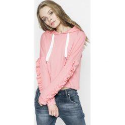 Only - Bluza. Różowe bluzy z kapturem damskie ONLY, l, z bawełny. W wyprzedaży za 59,90 zł.