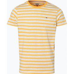 Tommy Jeans - T-shirt męski, żółty. Żółte t-shirty męskie marki Tommy Jeans, m, w paski, z jeansu. Za 139,95 zł.