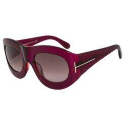 """Okulary przeciwsłoneczne damskie: Okulary przeciwsłoneczne """"FT0403 77Z 53"""" w kolorze ciemnoróżowym"""