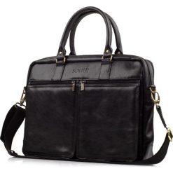 Solier - Torba. Czarne torby na laptopa marki Solier, w paski, z materiału. W wyprzedaży za 429,90 zł.
