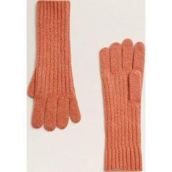 Mango - Rękawiczki Fun. Czerwone rękawiczki damskie Mango, z dzianiny. Za 49,90 zł.