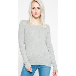 Tommy Hilfiger - Sweter. Szare swetry klasyczne damskie marki TOMMY HILFIGER, m, z bawełny, z okrągłym kołnierzem. W wyprzedaży za 339,90 zł.