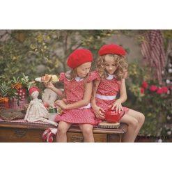 Sukienka Lady in Red. Czerwone sukienki dziewczęce z falbanami Pakamera, w paski, z bawełny. Za 119,00 zł.