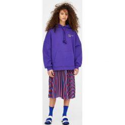 Bluza z kapturem. Szare bluzy męskie rozpinane marki Pull & Bear, moro. Za 39,90 zł.