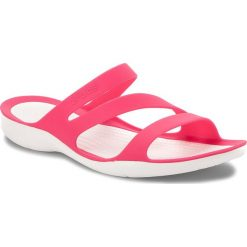 Chodaki damskie: Klapki CROCS - Swiftwater Sandal W 203998 Paradise Pink/White