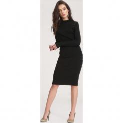 Czarna Sukienka Powder Grey. Czarne sukienki dzianinowe marki other, na jesień, l. Za 89,99 zł.