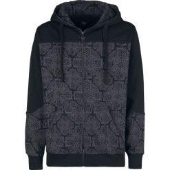 Bluzy męskie: Black Premium by EMP Mask Of Sanity Bluza z kapturem rozpinana czarny/szary