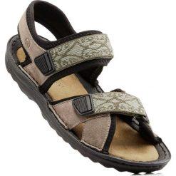 Sandały trekkingowe ze skóry bonprix beżowy. Brązowe buty trekkingowe damskie bonprix. Za 139,99 zł.