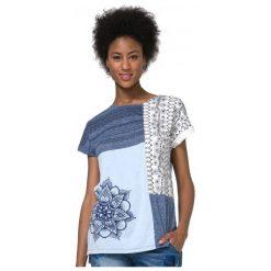 Desigual T-Shirt Damski Xs Niebieski. Niebieskie t-shirty damskie marki Desigual, xs. W wyprzedaży za 129,00 zł.