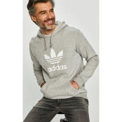 Adidas Originals - Bluza. Szare bluzy męskie rozpinane adidas Originals, l, z nadrukiem, z bawełny, z kapturem. Za 279,90 zł.