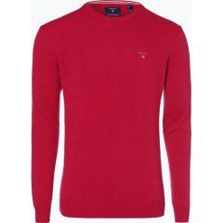 Gant - Sweter męski, różowy. Czerwone swetry klasyczne męskie GANT, l, z haftami, z wełny. Za 449,95 zł.