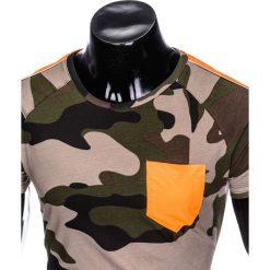 T-SHIRT MĘSKI Z NADRUKIEM MORO S948 - KHAKI/MORO. Zielone t-shirty męskie z nadrukiem marki Ombre Clothing, na zimę, m, z bawełny, z kapturem. Za 39,00 zł.