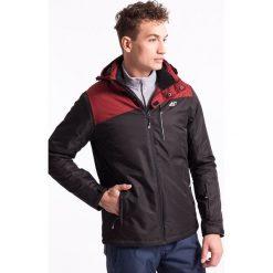 Kurtka narciarska męska KUMN002Z - czarny - 4F. Czarne kurtki męskie zimowe 4f, m, z materiału, z kapturem. Za 329,99 zł.
