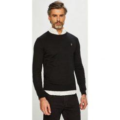 Polo Ralph Lauren - Sweter. Brązowe swetry klasyczne męskie Polo Ralph Lauren, l, z bawełny, z okrągłym kołnierzem. Za 639,90 zł.