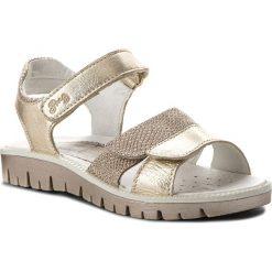 Sandały PRIMIGI - 1382422 S Plat. Żółte sandały dziewczęce marki Primigi, z nubiku. Za 229,00 zł.