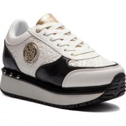 Sneakersy GUESS - FLTIF3 PEL12  WHIBL. Białe sneakersy damskie Guess, z materiału. Za 499,00 zł.