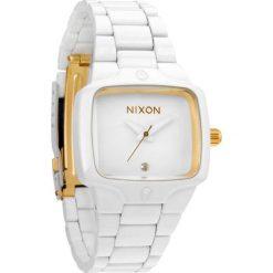Zegarki damskie: Zegarek damski All White Gold Nixon Small Player A3002035