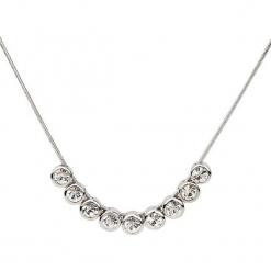Naszyjnik z elementem ozdobnym - dł. 42 cm. Szare naszyjniki damskie Biżuteria z kryształkami Swarovski. W wyprzedaży za 58,95 zł.