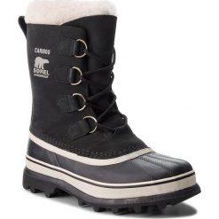 Śniegowce SOREL - Caribou NL1005 Black/Stone 011. Czarne buty zimowe damskie Sorel, z gumy. Za 699,99 zł.